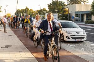 Infietsen nieuw fietspad Brugsesteenweg